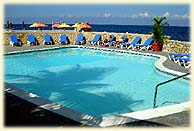 The pool at Hotel Sam Sara on the cliffs of Negril Jamaica